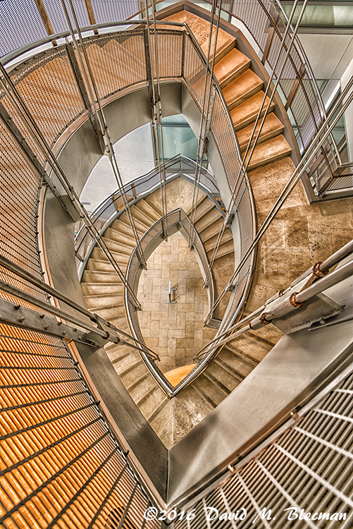Modern Spiral Staircase | Architecture Photography
